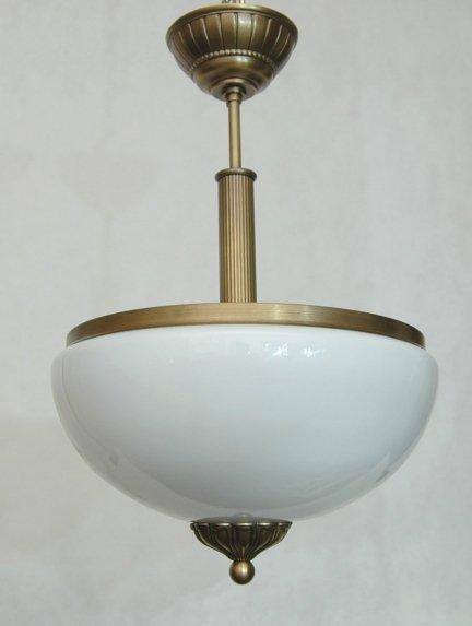 Lampa Mosiężna Zwis Ampla Żyrandol mosiężny