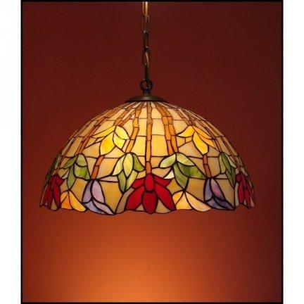 Lampa żyrandol zwis witraż  STORCZYK 40cm