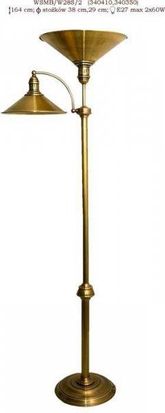 Lampa stojąca mosiężna,lampa podłogowa mosiężna