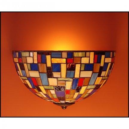 Lampa ścienna kinkiet witraż MOZA 30cm