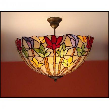 Plafon lampa żyrandol witraż STORCZYK 40cm