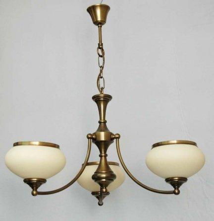 Żyrandol mosiężny JBT Stylowe Lampy WZMB/W63Z/3/4268