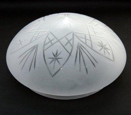 Klosz szklany plafonierowy szlifowany