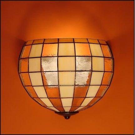 Lampa ścienna kinkiet witraż MODERNUS 25cm