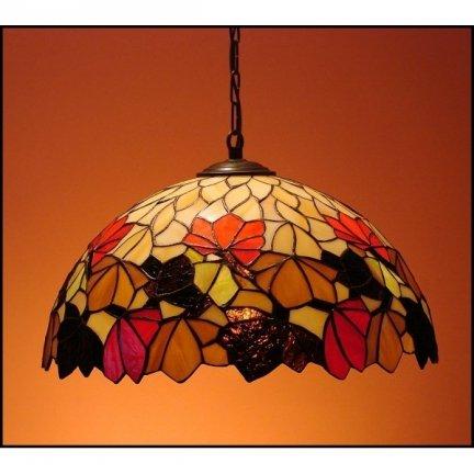 Lampa żyrandol zwis witraż JESIEŃ 40cm