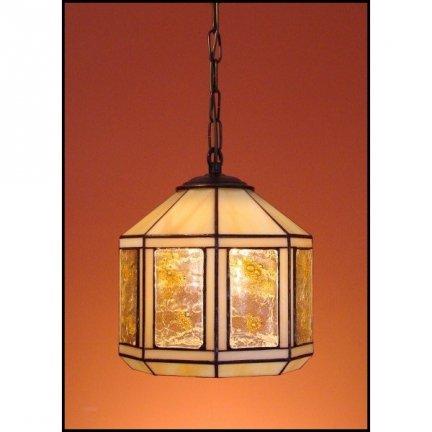 Lampa żyrandol zwis witraż MIÓD 20cm