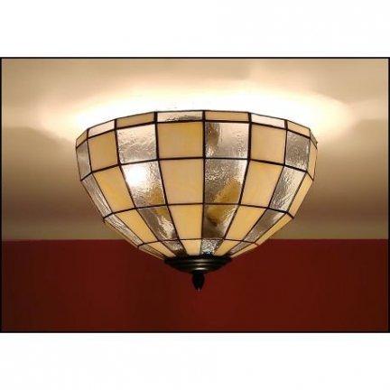 Plafon lampa żyrandol witraż MODERNUS 30cm