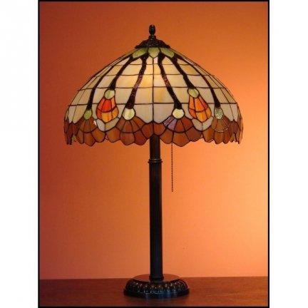 Lampka witrażowa nocna biurkowa AKSAMIT H-60 cm
