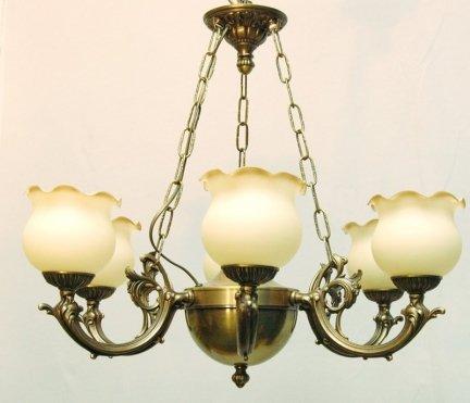Żyrandol mosiężny JBT Stylowe Lampy WZMB/W07Z/6