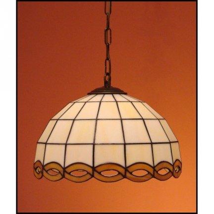 Lampa żyrandol zwis witraż WARKOCZ 23cm