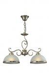 Lindgard - lampa wisząca 2 płomienna patyna 108702-04