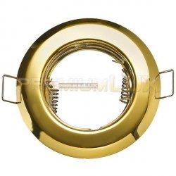 Oprawa halogenowa sufitowa ALFA okrągła stała złoto LUX01229