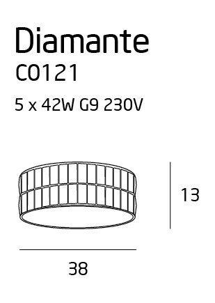 DIAMANTE plafon mały C0121 MAXlight