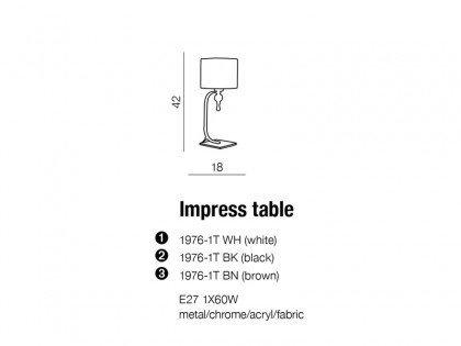 Lampka stołowa AZzardo Impress Black 1976-1T BK