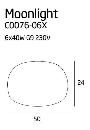 Moonlight plafon grey C0076-06X MAXlight