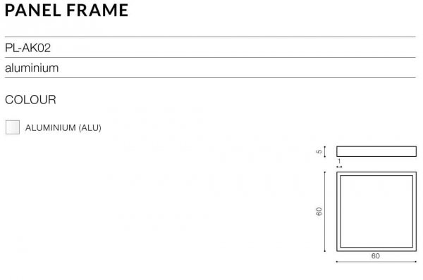 PANEL 60 4300K ALU+PANEL FRAME AZzardo PL-6060-40W-4300-ALU+PL-AK02