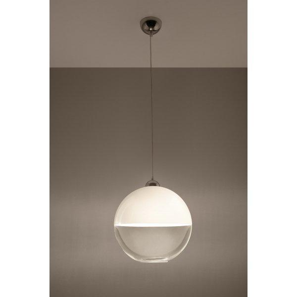 Wyprzedaż: Lampa wisząca GINO biała SL.0269 - Sollux