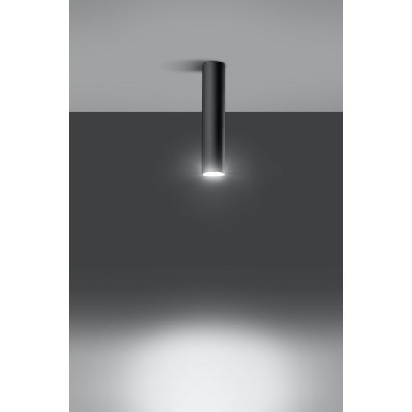 Plafon LAGOS czarny SL.0436 Sollux