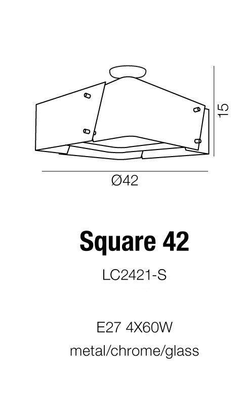 Plafon Square 42 AZzardo LC2421-S