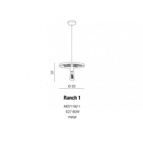 Lampa wisząca RANCH 1 AZzardo MD71192-1