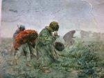 JÓZEF CHEŁMOŃSKI (1849-1914) BURZA. OLEJ PŁÓTNO