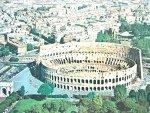 ROMA. VEDUTA AEREA DEL COLOSSEO