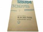 RACHUNEK ZAWODOWY M-156 - Bogdan Konieczny 1985