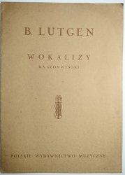 B. LUTGEN 20 WOKALIZ NA GŁOS WYSOKI Z FORTEPIANEM