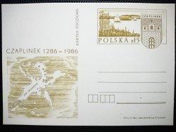 KARTKA POCZTOWA. CZAPLINEK 1286-1986