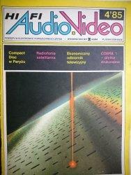 HIFI AUDIO VIDEO NR 4'85
