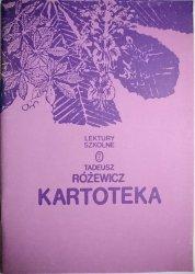 KARTOTEKA - Tadeusz Różewicz 1986