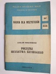 POCZĄTKI MENNICTWA RZYMSKIEGO - Lesław Morawiecki 1982