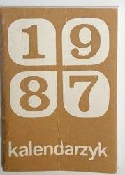 KALENDARZYK 1987 MINIATURA