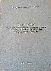 INFORMATOR DLA KANDYDATÓW NA ZAOCZNE STUDIA 79/80