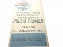 POLSKA-FRANCJA MŁODZIEŻOWE REPREZENTACJE 28 X 1980