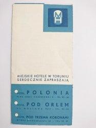 MIEJSKIE HOTELE W TORUNIU SERDECZNIE ZAPRASZAJĄ. POLONIA