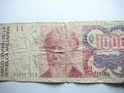 BANKNOT 1000 MIL AUSTRALES. ARGENTINA