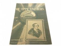 DIE STIMME SEINES HERRN. SEPTEMBER 1938