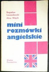 MINI ROZMÓWKI ANGIELSKIE Bogusław Lawendowski 1980