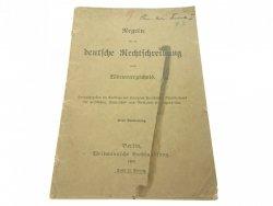 DEUTSCHE RECHTSCHREIBUNG 1902