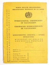INTERNATIONAL CERTIFICATES OF VACCINATION