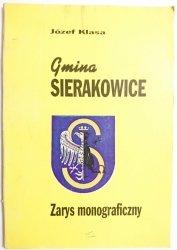 GMINA SIERAKOWICE. ZARYS MONOGRAFICZNY - Józef Klasa 1997