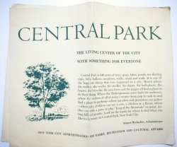 CENTRAL PARK. THE LIVING CENTER OF THE CITY. MAPKA