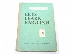 LET'S LEARN ENGLISH. PODRĘCZNIK KLASA IX - Smólska