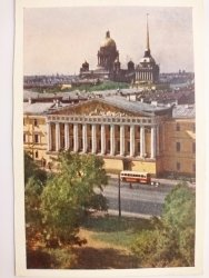 VIEW OF THE ADMIRALTY AND ST. ISAAC'S CATHEDRAL LENINGRAD