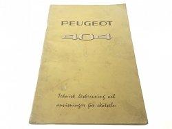 PEUGEOT 404 PORADNIK W J. SZWEDZKIM 1967 UNIKAT