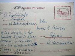 KARTKA POCZTOWA Z 1967 ROKU