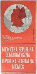 NIEMIECKA REPUBLIKA DEMOKRATYCZNA REPUBLIKA FEDERALNA NIEMIEC 1: 1 000 000 1973