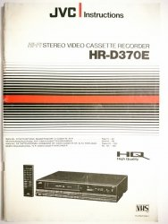 JVC INSTRUCTIONS. HI-FI STEREO VIDEO CASSETTE RECORDER HR-D370E