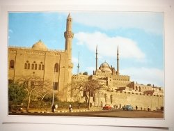 CAIRO CITADEL. MOHAMED ALY MOSQUE ILLUMINATED BY NIGHT